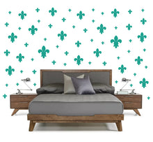 Load image into Gallery viewer, TURQUOISE FLEUR DE LIS WALL DECOR