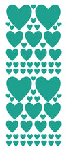 Load image into Gallery viewer, TURQUOISE HEART WALL STICKERS