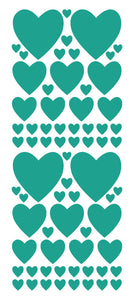 TURQUOISE HEART WALL STICKERS