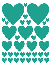 Load image into Gallery viewer, TURQUOISE HEART WALL DECALS