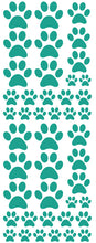 Load image into Gallery viewer, TURQUOISE PAW PRINT DECALS