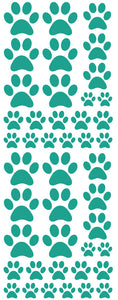 TURQUOISE PAW PRINT DECALS