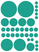 Load image into Gallery viewer, TURQUOISE POLKA DOT WALL DECALS