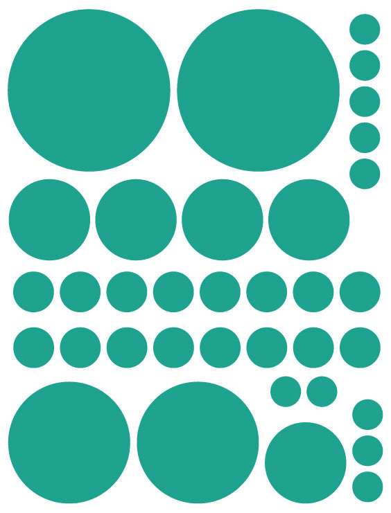 TURQUOISE POLKA DOT WALL DECALS
