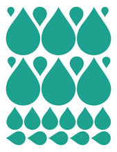 Load image into Gallery viewer, TURQUOISE RAINDROP WALL DECALS