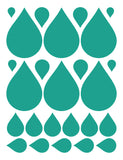 TURQUOISE RAINDROP WALL DECALS