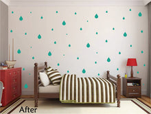 Load image into Gallery viewer, TURQUOISE RAINDROP WALL GRAPHICS