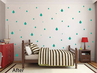 TURQUOISE RAINDROP WALL GRAPHICS