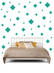 SQUARE WALL STICKERS IN TURQUOISE