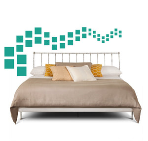 SQUARE WALL DECALS IN TURQUOISE
