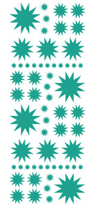 TURQUOISE STARBURST WALL STICKERS