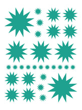 Load image into Gallery viewer, TURQUOISE STARBURST WALL DECALS