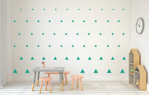 TURQUOISE TRIANGLE DECALS