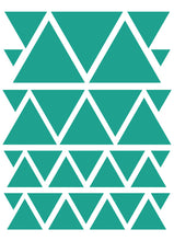 Load image into Gallery viewer, TURQUOISE TRIANGLE WALL DECALS