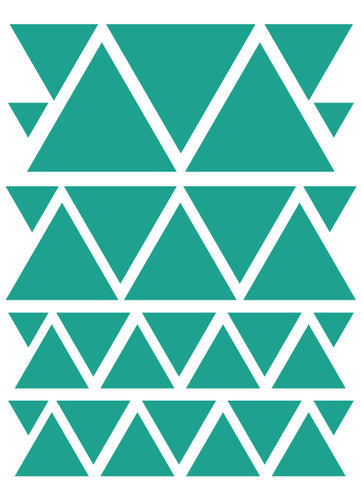 TURQUOISE TRIANGLE WALL DECALS