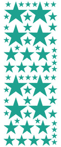 TURQUOISE STAR DECALS
