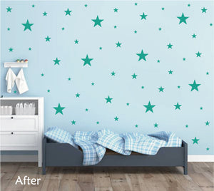 TURQUOISE STAR STICKERS