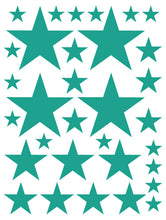 Load image into Gallery viewer, TURQUOISE STAR WALL DECALS