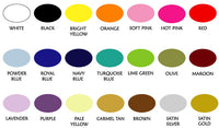 WALL DECAL COLOR CHART