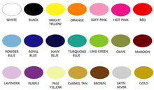 Load image into Gallery viewer, WALL DECAL COLOR CHART FOR WHIMSIDECALS.COM
