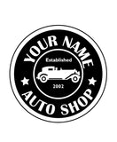 CUSTOM AUTO SHOP WALL DECAL IN WHITE