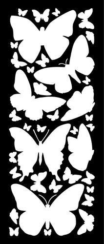 WHITE BUTTERFLY WALL DECALS