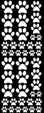 Load image into Gallery viewer, WHITE PAW PRINT DECALS