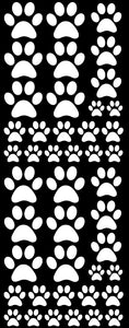 WHITE PAW PRINT DECALS