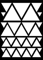 WHITE TRIANGLE WALL DECALS