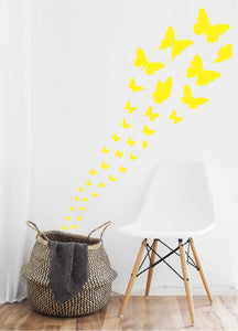 YELLOW BUTTERFLY WALL STICKERS
