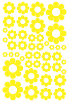 YELLOW DAISY WALL STICKERS