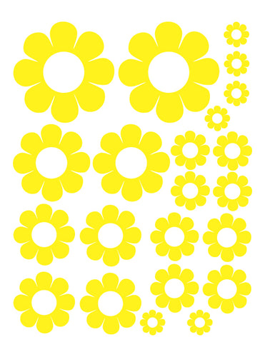 YELLOW DAISY WALL DECALS