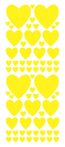 YELLOW HEART WALL STICKERS