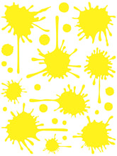 Load image into Gallery viewer, YELLOW PAINT SPLATTER WALL DECAL