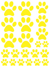 Load image into Gallery viewer, YELLOW PAW PRINT WALL DECALS