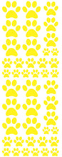 Load image into Gallery viewer, YELLOW PAW PRINT DECALS