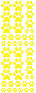 YELLOW PAW PRINT DECALS