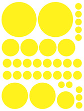 Load image into Gallery viewer, YELLOW POLKA DOT WALL DECALS