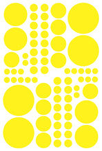Load image into Gallery viewer, YELLOW POLKA DOT DECALS