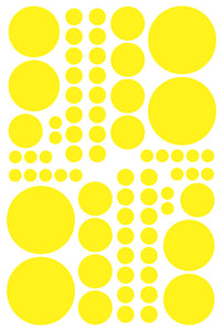 YELLOW POLKA DOT DECALS