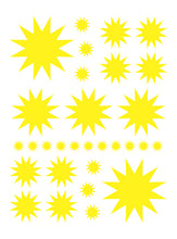 Load image into Gallery viewer, YELLOW STARBURST WALL DECALS