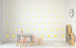 YELLOW TRIANGLE DECALS