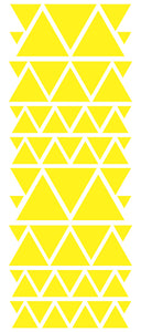 YELLOW TRIANGLE STICKERS