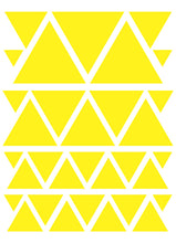 Load image into Gallery viewer, YELLOW TRIANGLE WALL DECALS
