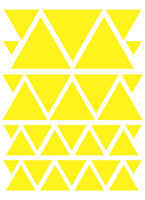 YELLOW TRIANGLE WALL DECALS