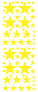 YELLOW STAR DECALS