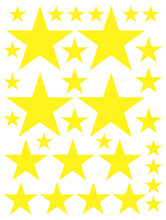 Load image into Gallery viewer, YELLOW STAR WALL DECALS