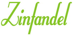 ZINFANDEL WALL DECAL LIME GREEN