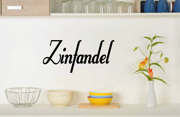 ZINFANDEL WALL DECAL