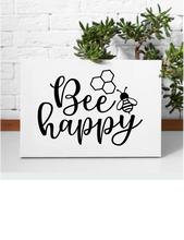 Load image into Gallery viewer, BEE HAPPY WALL DECAL
